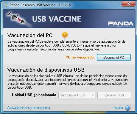 descargar vacuna para usb