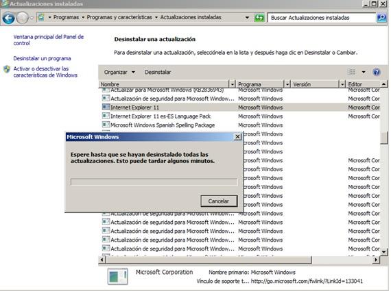 restaurar internet explorer 11
