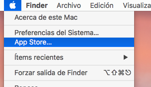 Acceso a Mac App Store