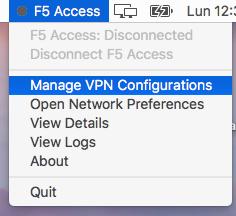 Gestionar configuraciones VPN