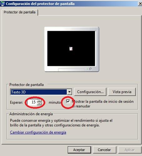 Servicio de Informática - Cómo activar el protector de pantalla con ...